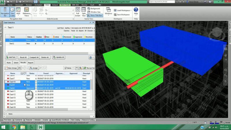 Detección de interferencias usando herramientas BIM