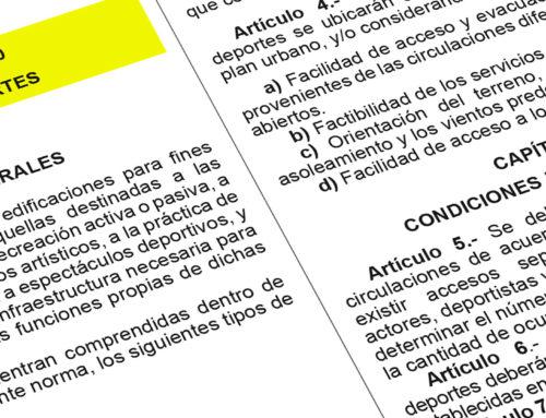 Normatividad de Edificaciones aplicable a la Infraestructura Deportiva