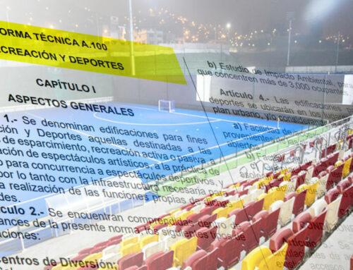 Analizando la norma A.100 del RNE Recreación y Deportes